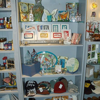 Many unique handmade crafts are for sale at The Heritage Foundation Gift Store